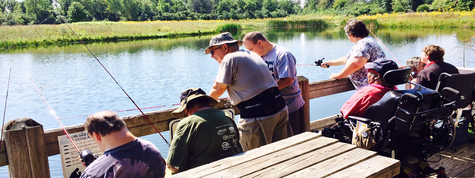 Rangers fishing program Wood County Park District