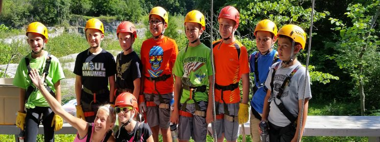 Rappelling at Sawyer Quarry Nature Preserve with Wood County Park District Nature Camp