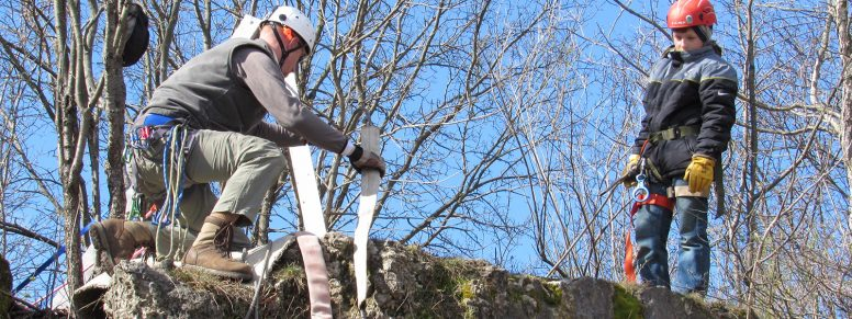 rappelling with the Wood County Park District