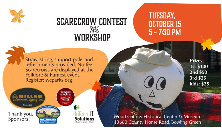 Scarecrow contest graphic. Information on page.