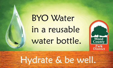 Bring your own reusable water bottle. Hydrate and be well.