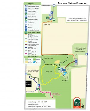 map of park