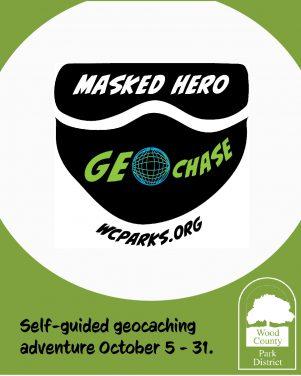 Masked hero geochase logo.