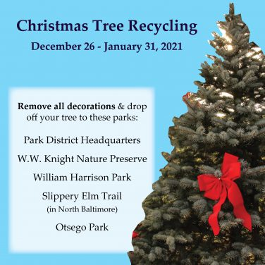 Christmas Tree recycling locations repeated in text
